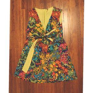 Vintage 60s 70s flower power mini dress or shirt